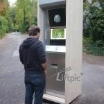 Outdoor FunFotoAutomat mit Kamera und Trackballsteuerung