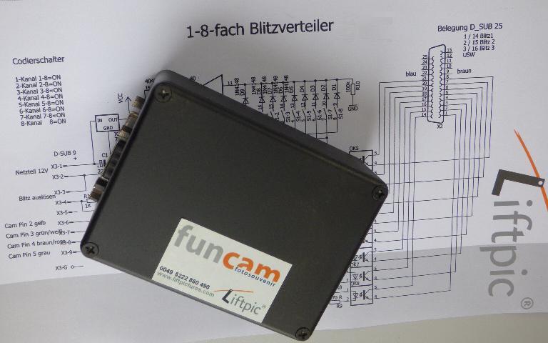 Multiblitzsteuerung 1.2 für 1..8 Blitzgeräte