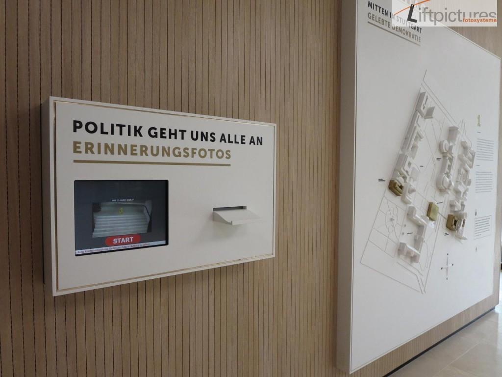 Dialogterminal im Landtag von Stuttgart