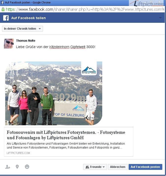 Facebook vom Kitzsteinhorn
